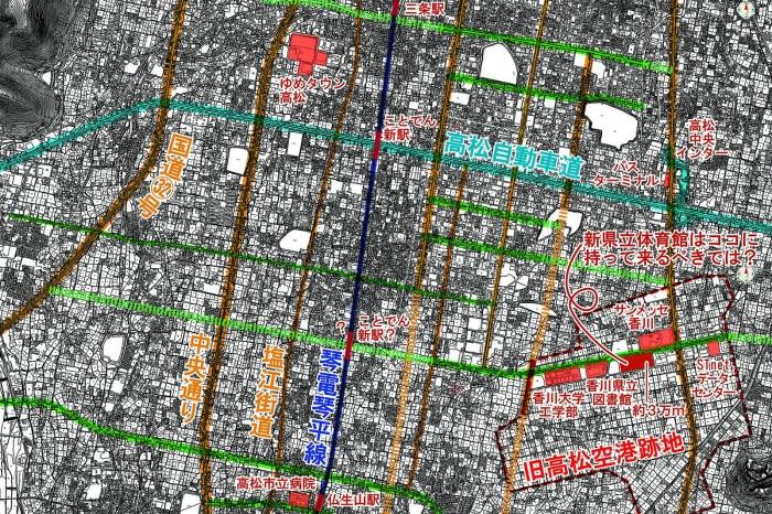 計画道路(大田)高圧縮